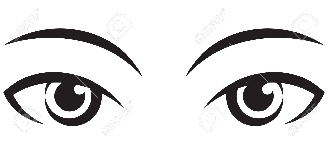 Eye clipart black and white. Eyes free download best