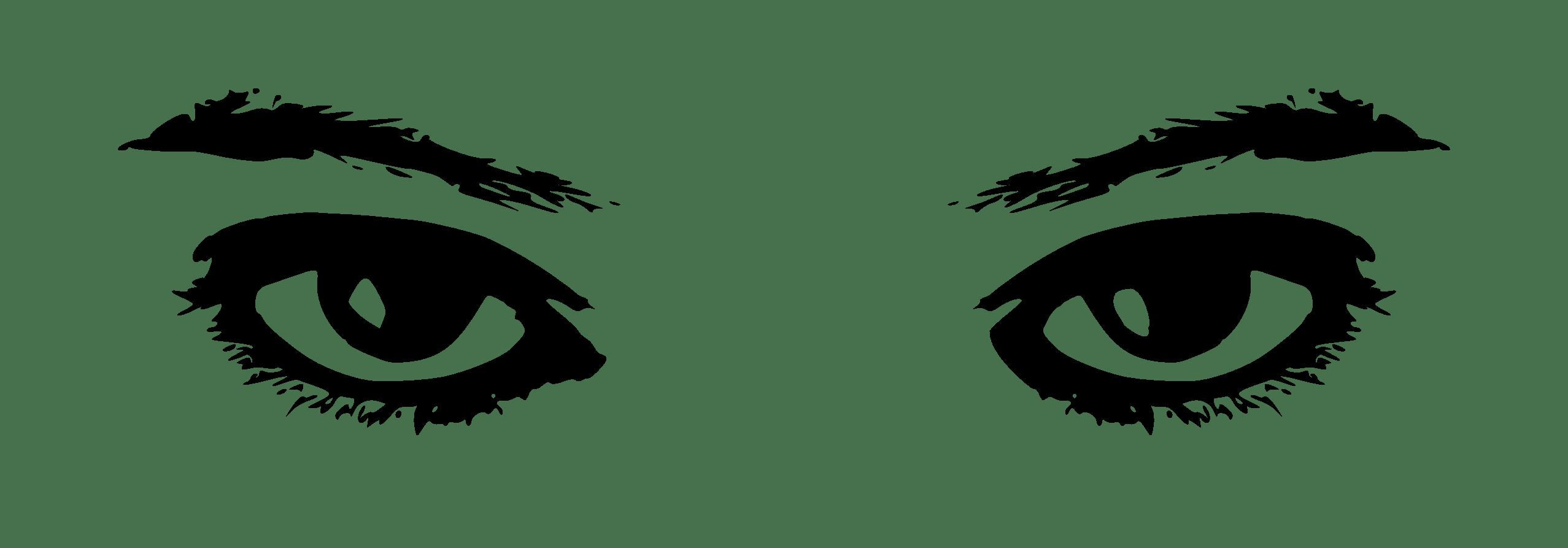 Two eyes hd wallpaper. Eye clipart black and white