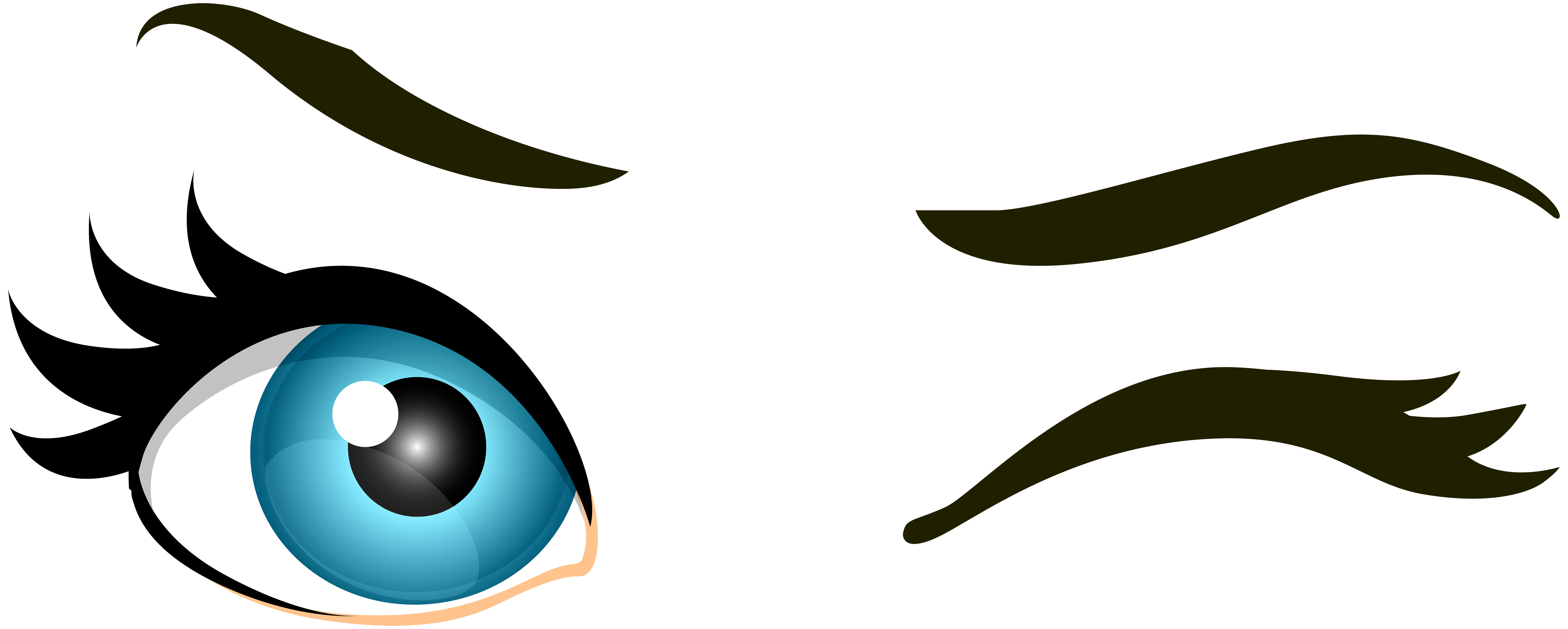 Eyes clipart blue.  collection of winking