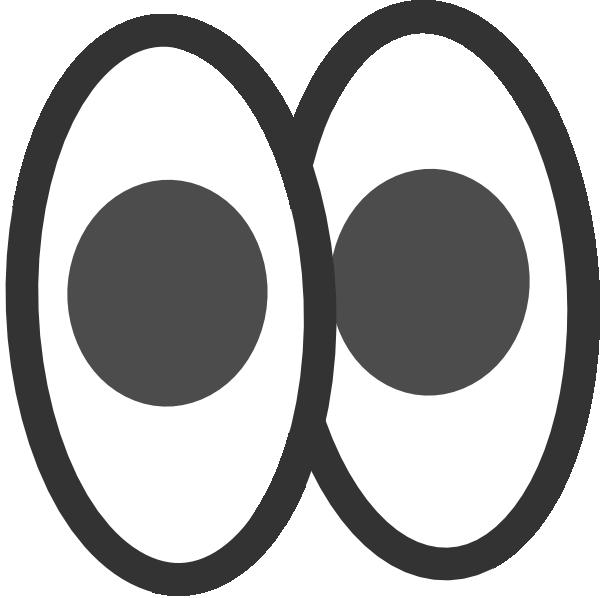 Pair of eyes clip. Eyeballs clipart eye outline
