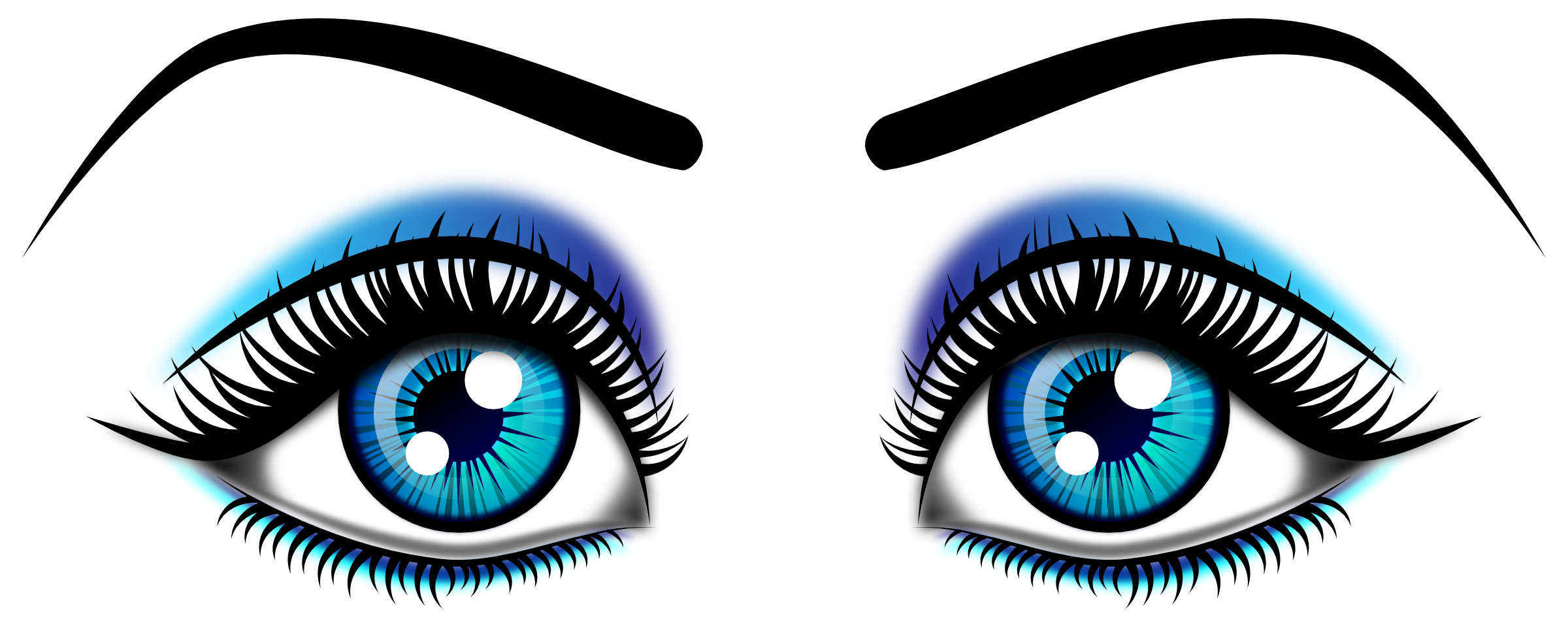 Eyelashes clipart dark brown eye. Clip art panda free