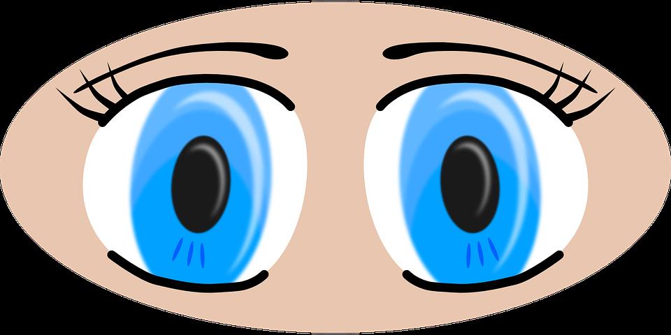 Eye round blue free. Eyeball clipart dark eyes