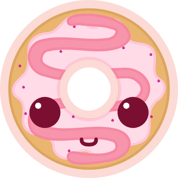 Kawaii donut png transparent. Doughnut clipart colorful