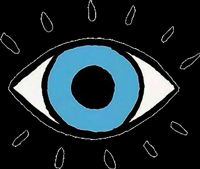 Tumblr eye love sticker. Eyeball clipart eyesight