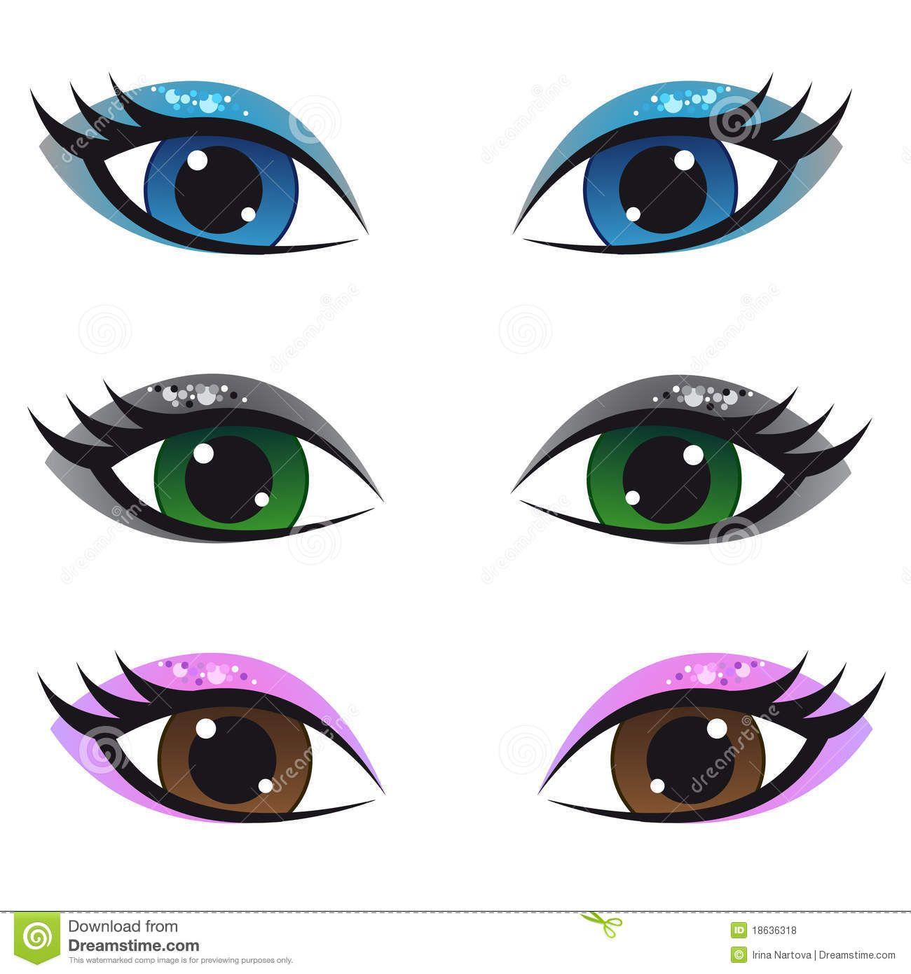Eyes google search clay. Girl clipart eye