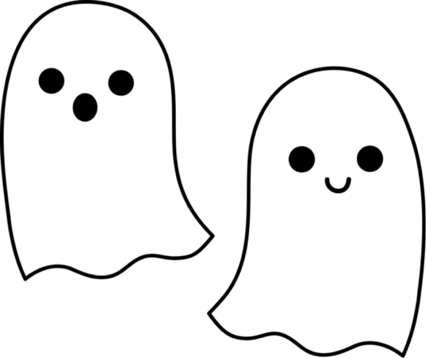 Ghoul boy small kid. Outline clipart ghost