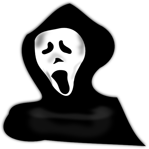 Scary clip art at. Eyes clipart ghost