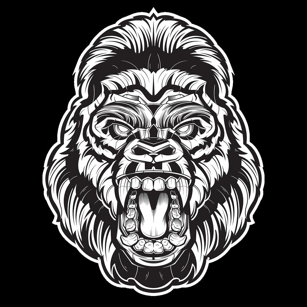 Clipart face gorilla. Apex on behance pinterest