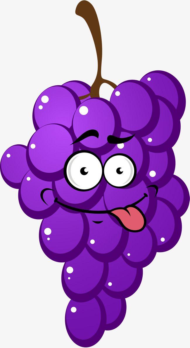 Grape clipart violet. Purple cartoon grapes tere