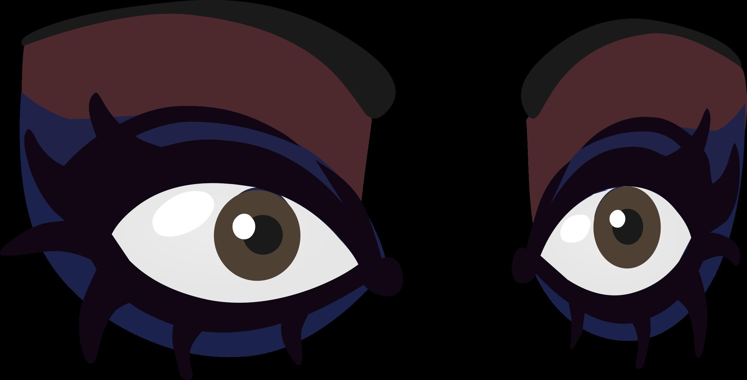 Goth eyes from glitch. Eye clipart animation
