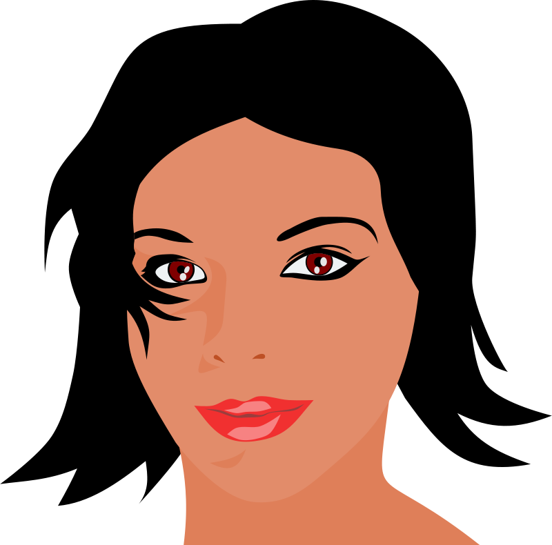 Free face woman cliparts. Clipart eyes lip