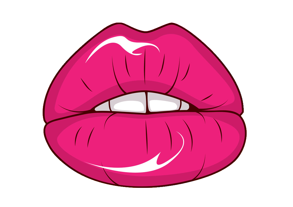 Cartoon lips fans. Eyes clipart lip