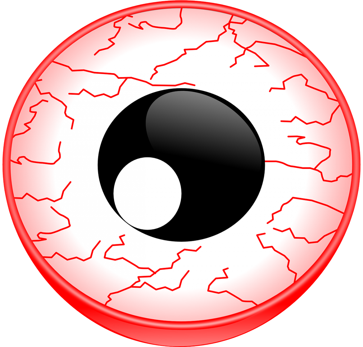 Eyes clipart illustration. Pink bloodshot eye free