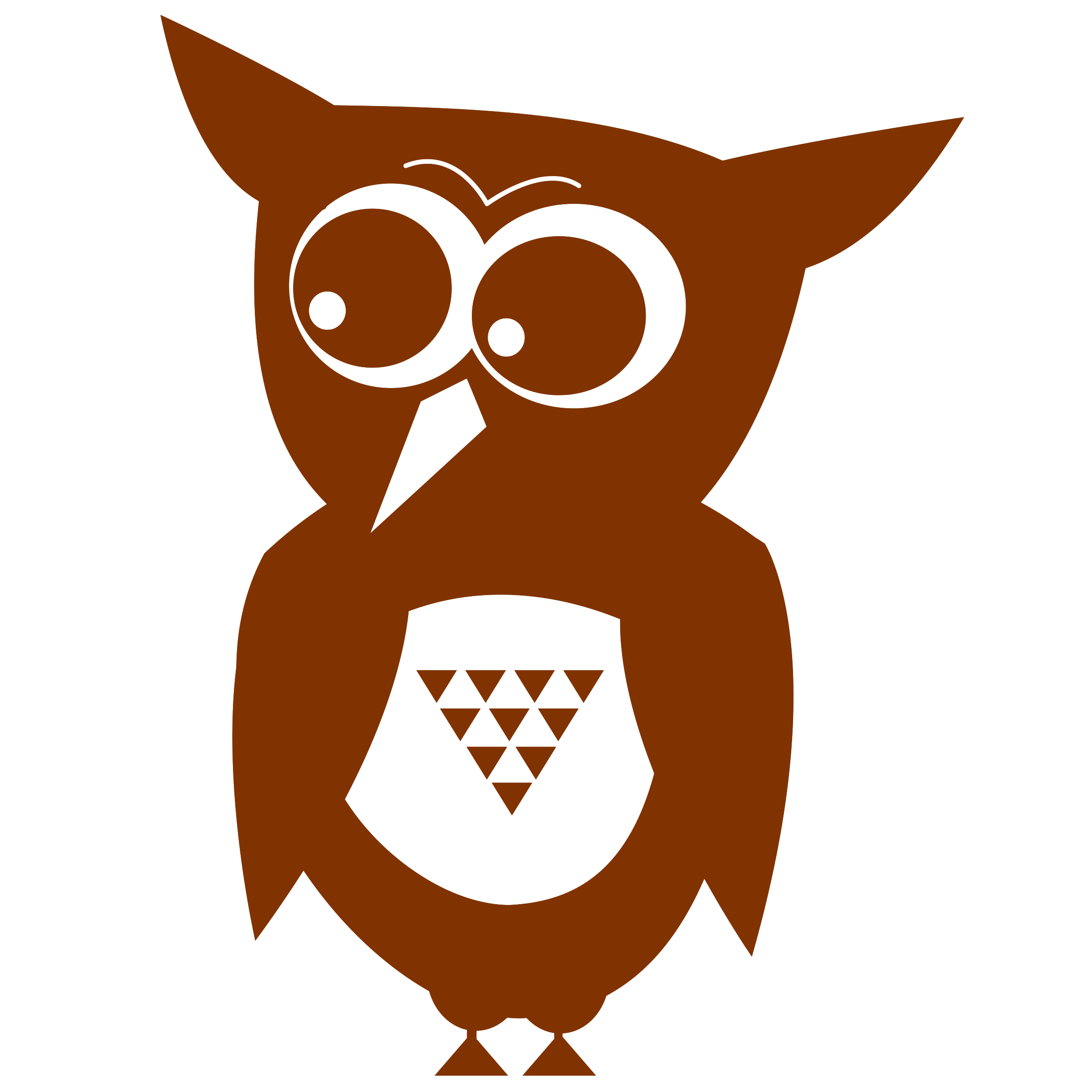One color flat big. Eyes clipart owl