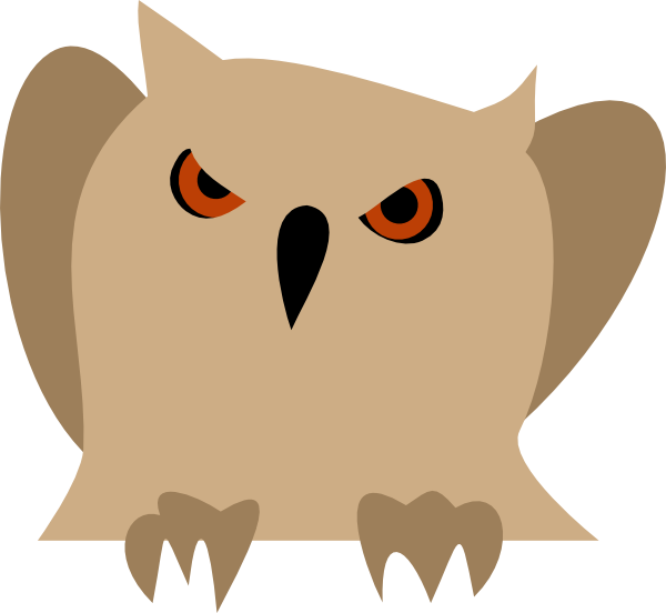 Eyes clipart owl. With red clip art