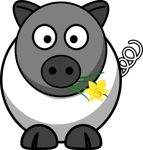 Eyeball clipart pig. A white is no