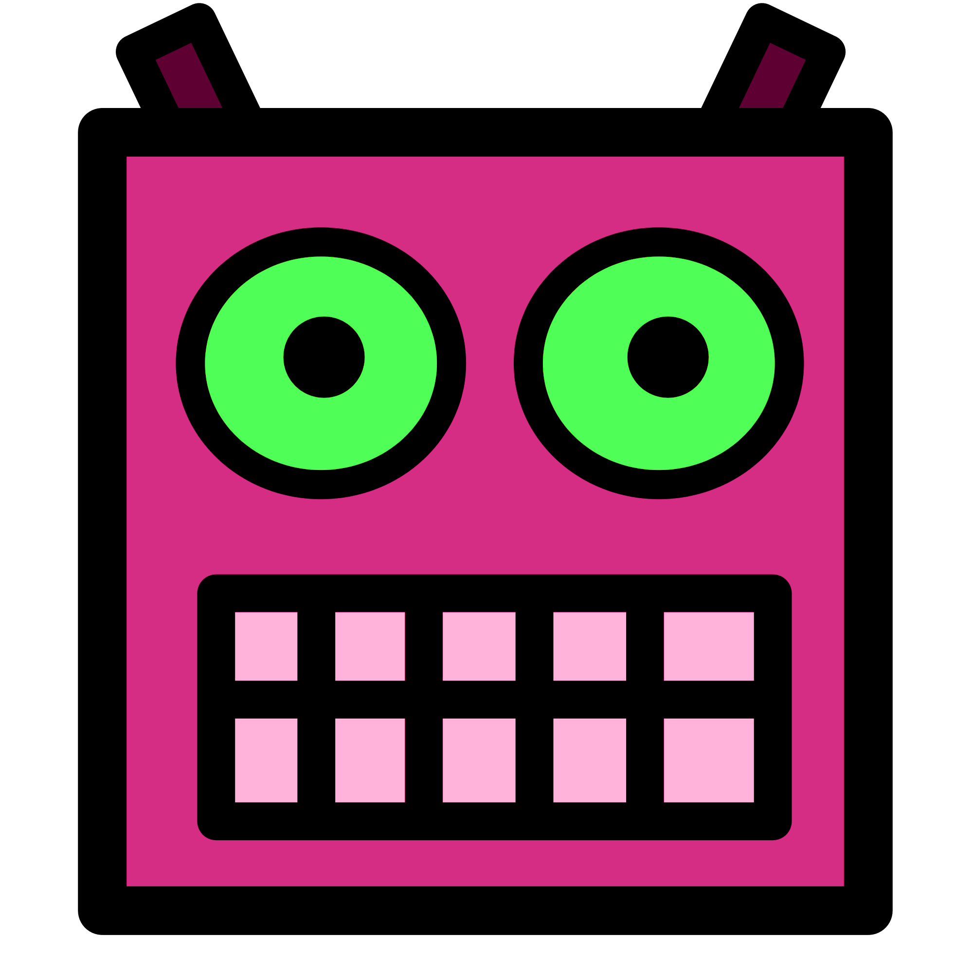 Eyes clipart robot. File pink or plum