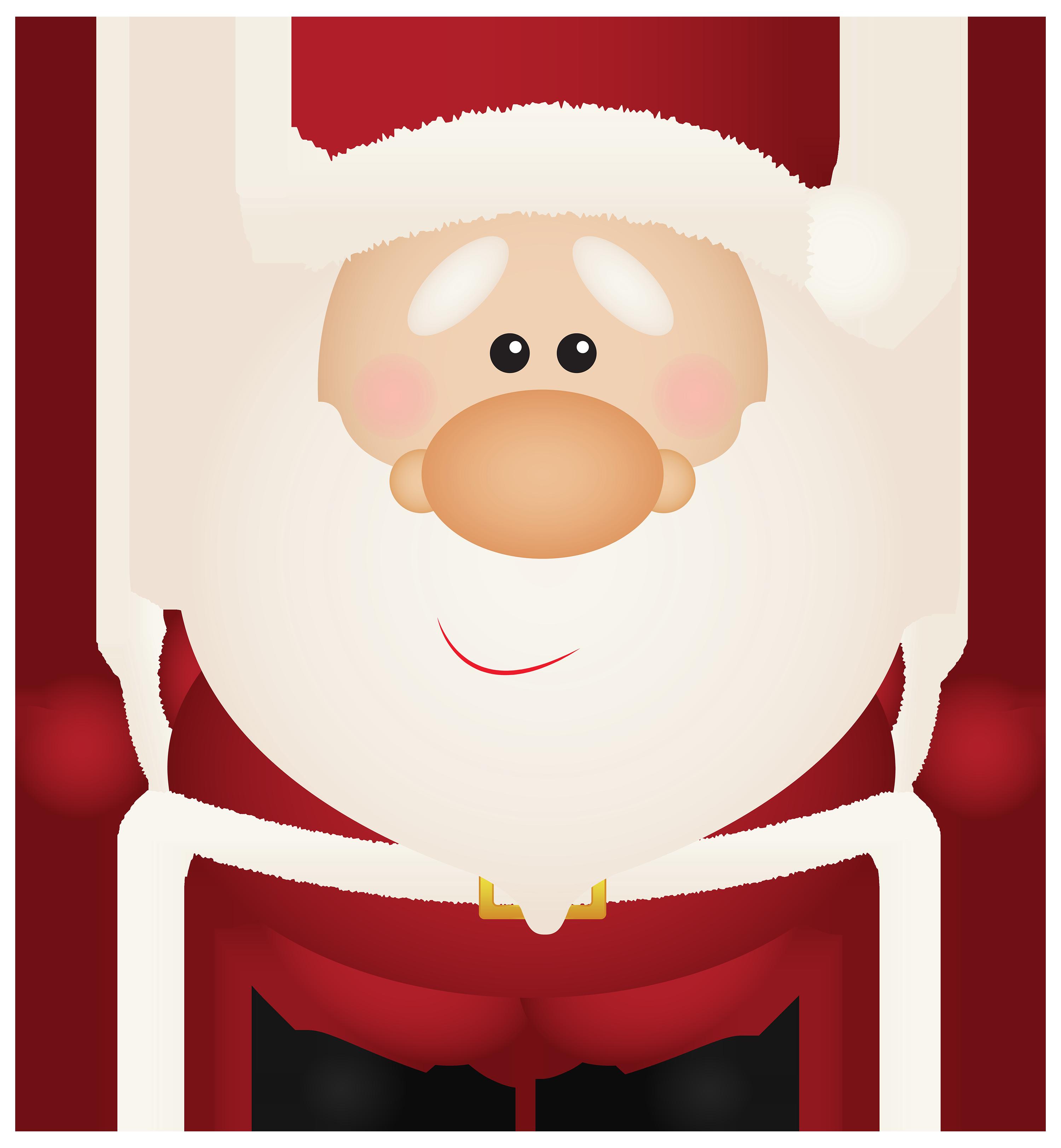 Santa claus cartoon png. Happy clipart chuseok