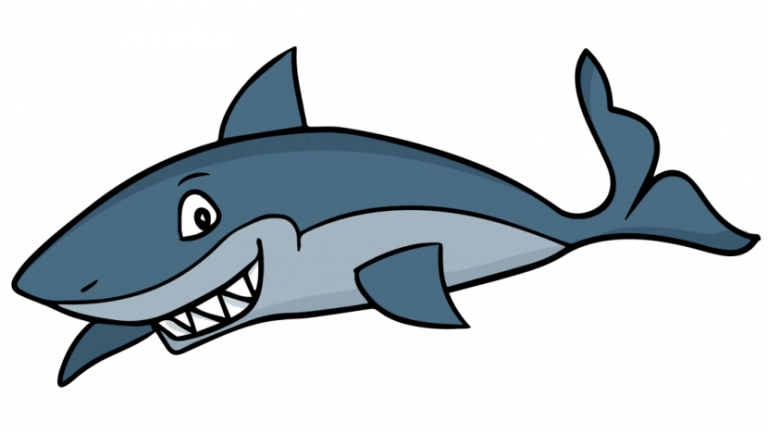 Blue at getdrawings com. Clipart shark happy
