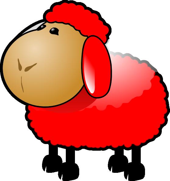 Red clip art at. Foot clipart sheep