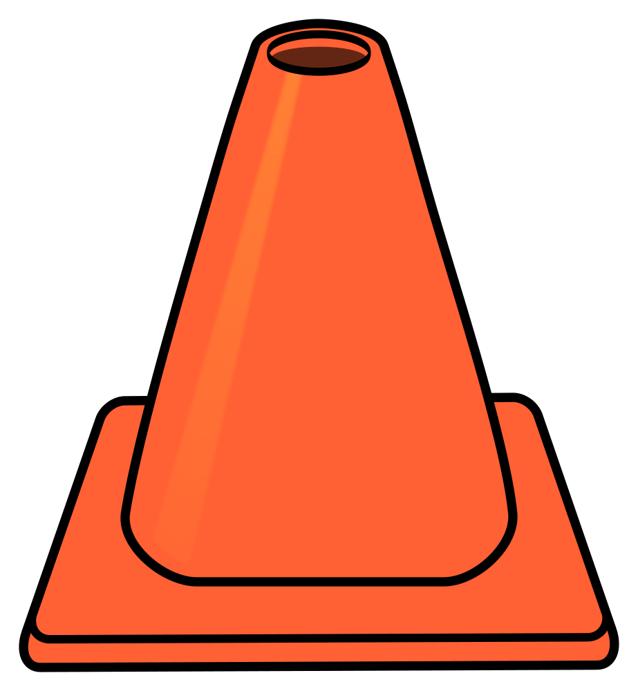 Cone hat graphics illustrations. Witch clipart orange