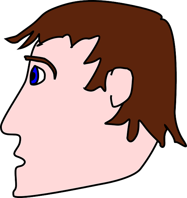Facial silhouette at getdrawings. Yelling clipart heads up
