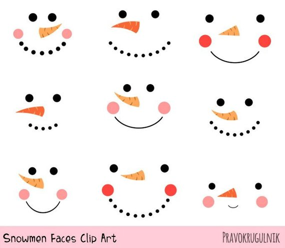 Eyeballs clipart snowman. Cute snowmen faces funny