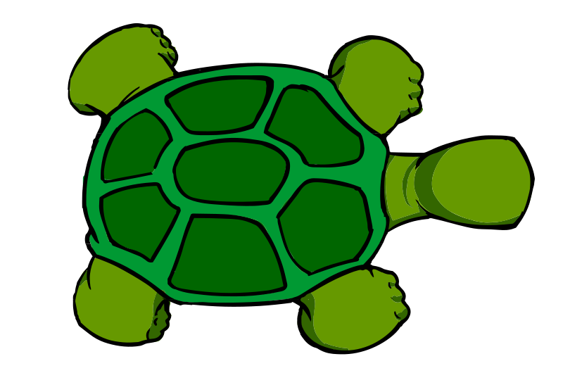 Clipart turtle shape. File kturtle top view