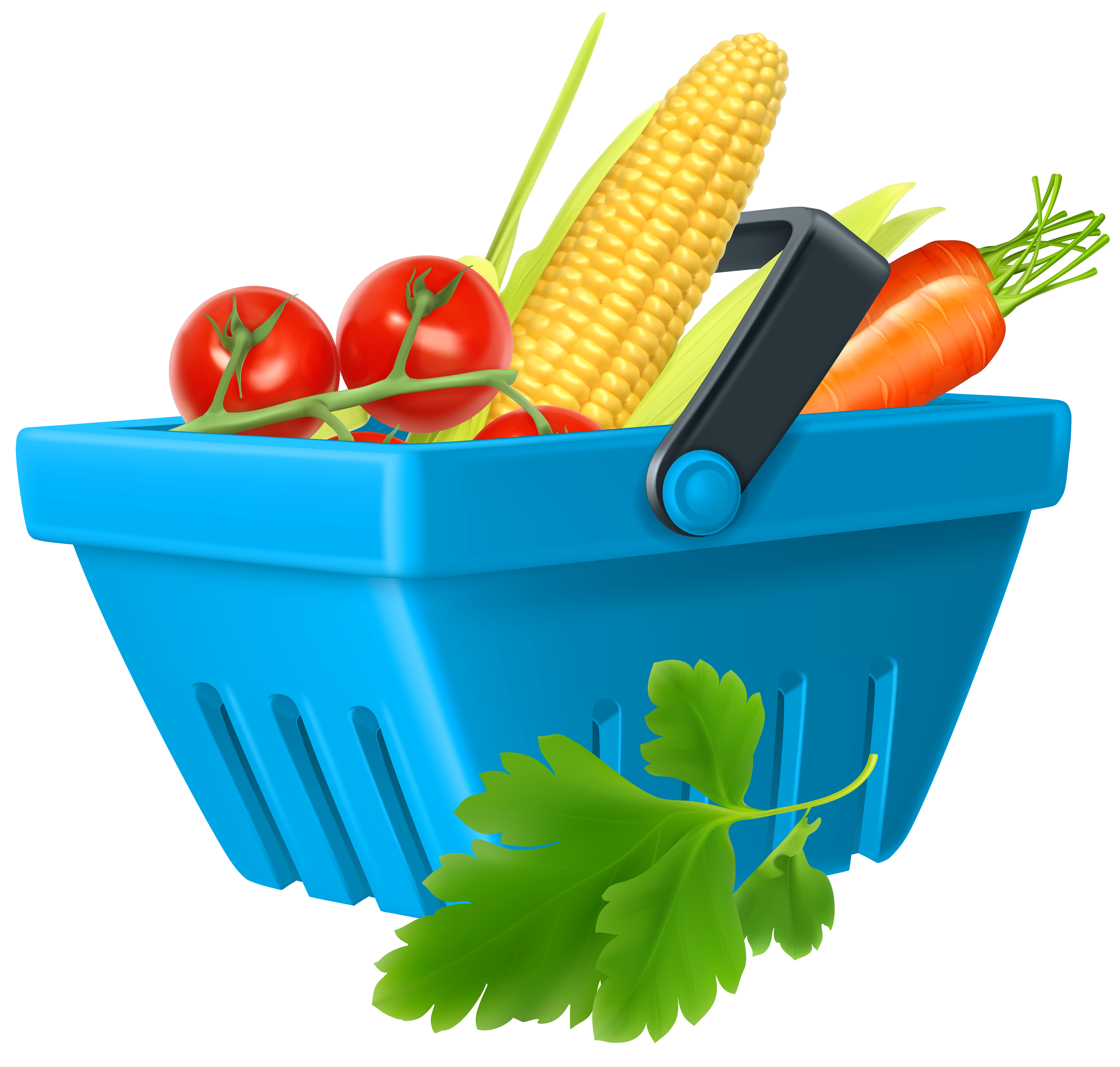 Basket with png best. Clipart vegetables cartoon
