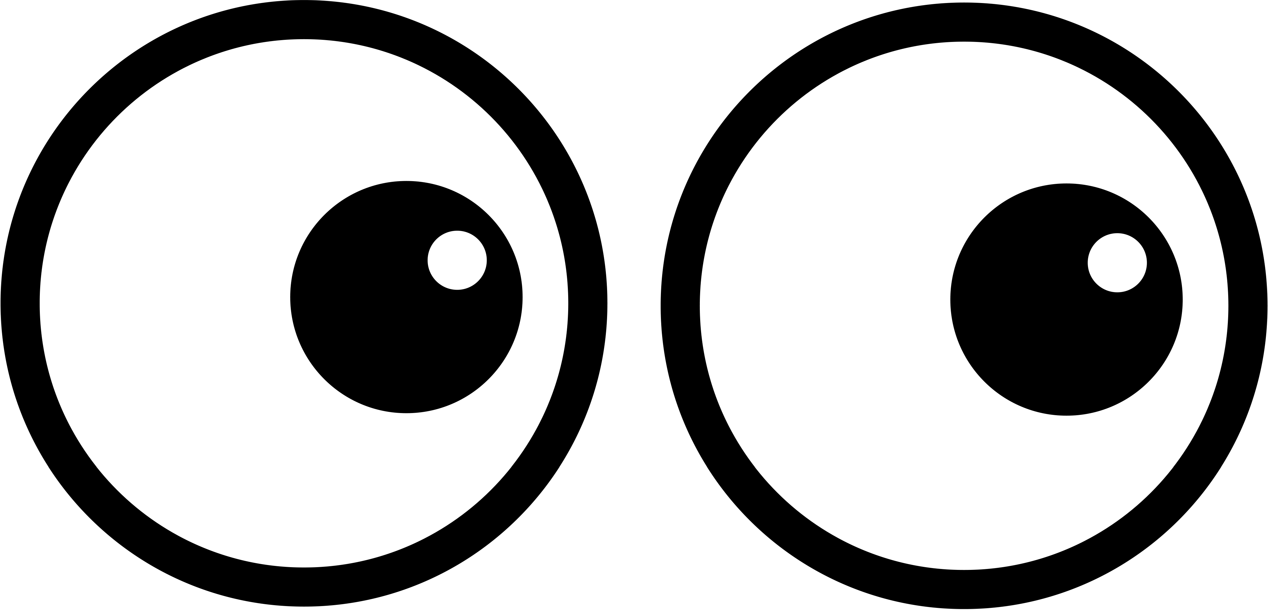 Two eyes . Eyeball clipart template