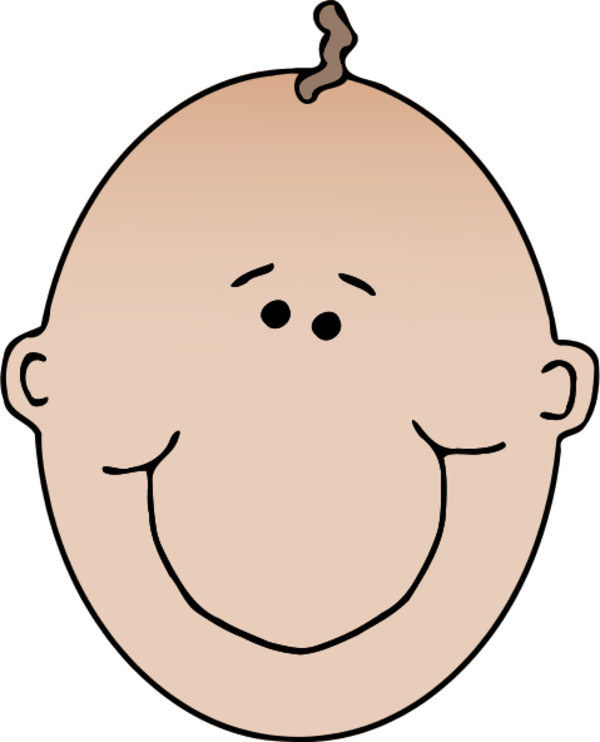 Brothers clipart face. No hair