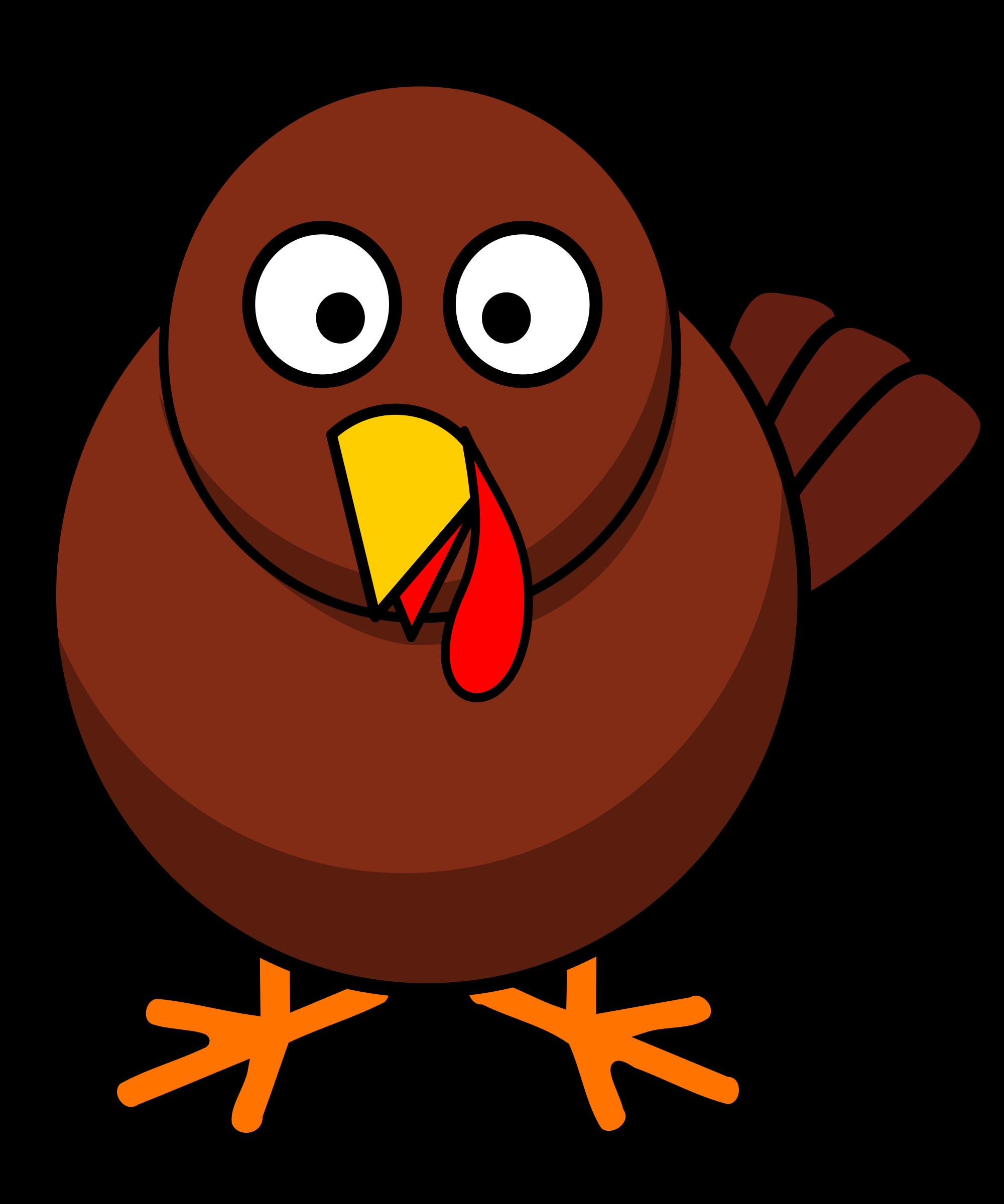 Clipart face big bird. Turkey round cartoon image