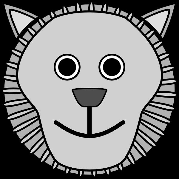 Lion clipartblack com animal. Clipart face black and white