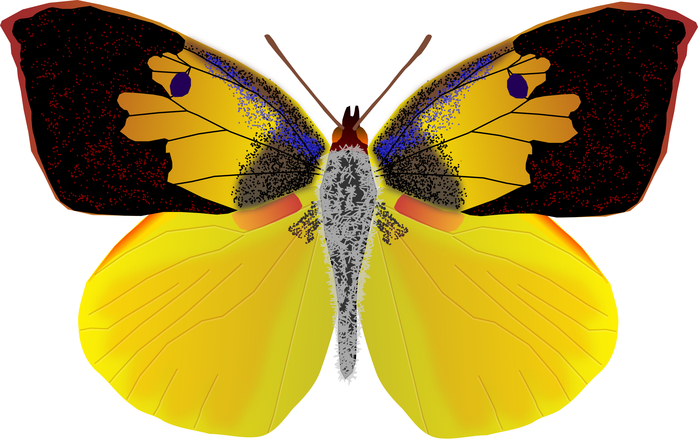 Faces clipart easy. Face butterfly frames illustrations