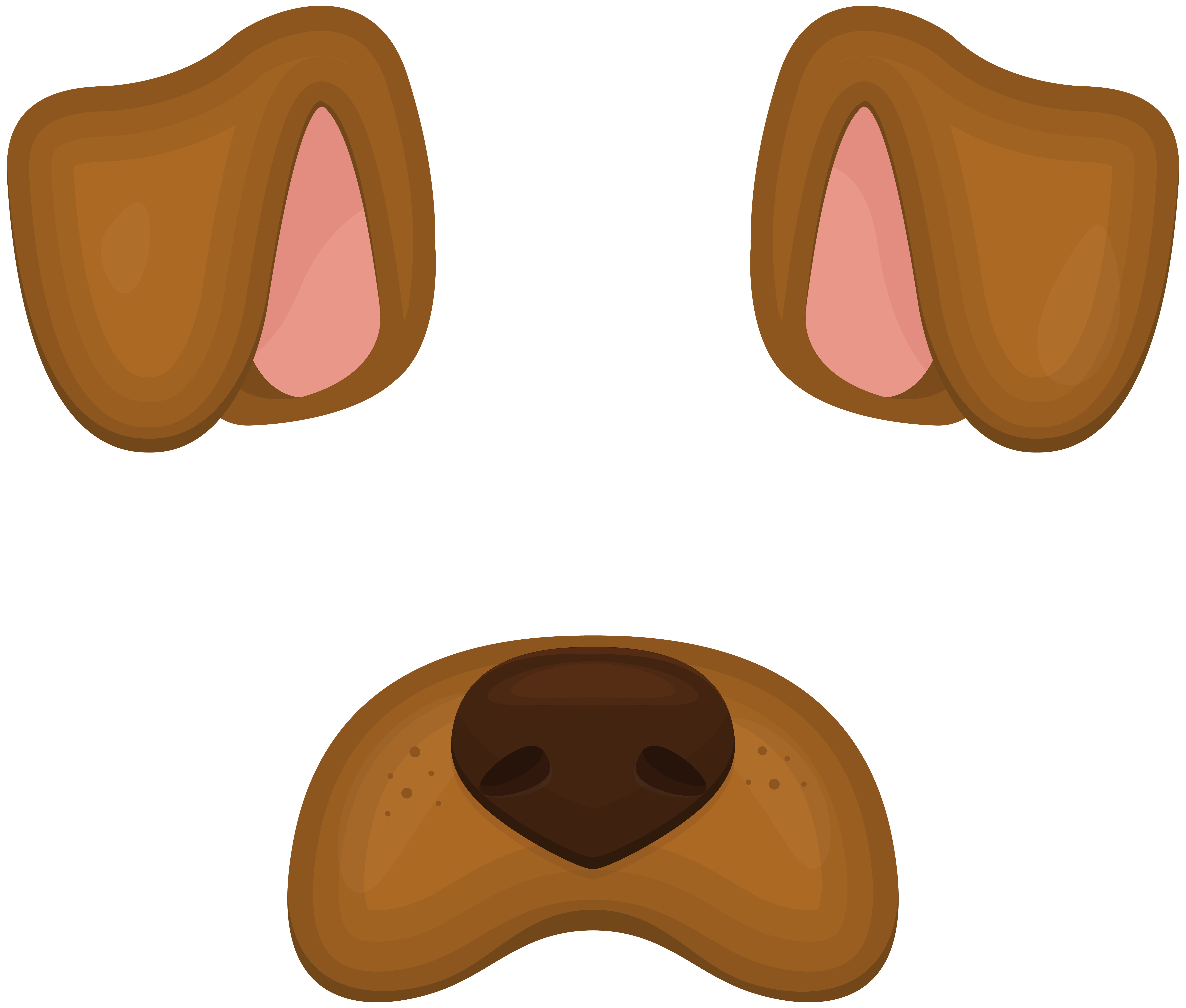 Border collie dogo argentino. Clipart puppy ear