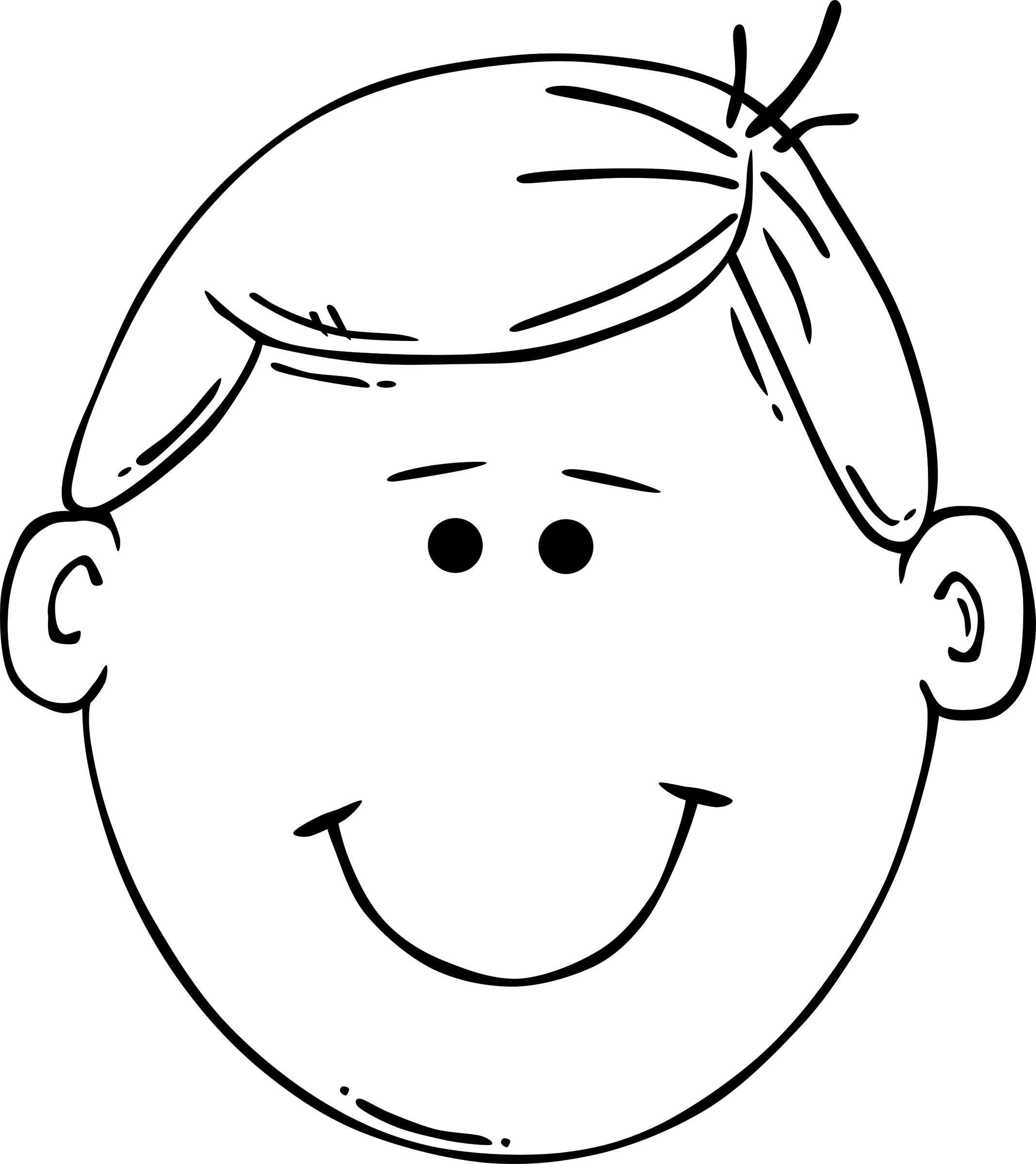 Man face cartoon big. Faces clipart basic emotion