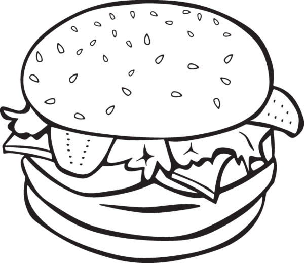 ra burger and. Onion clipart colouring page
