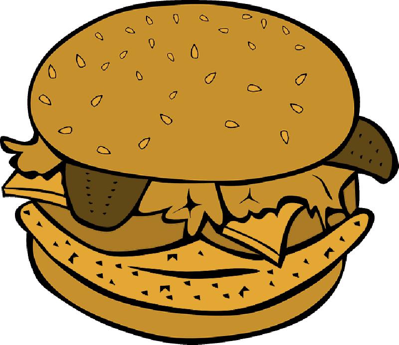 clipart fish burger
