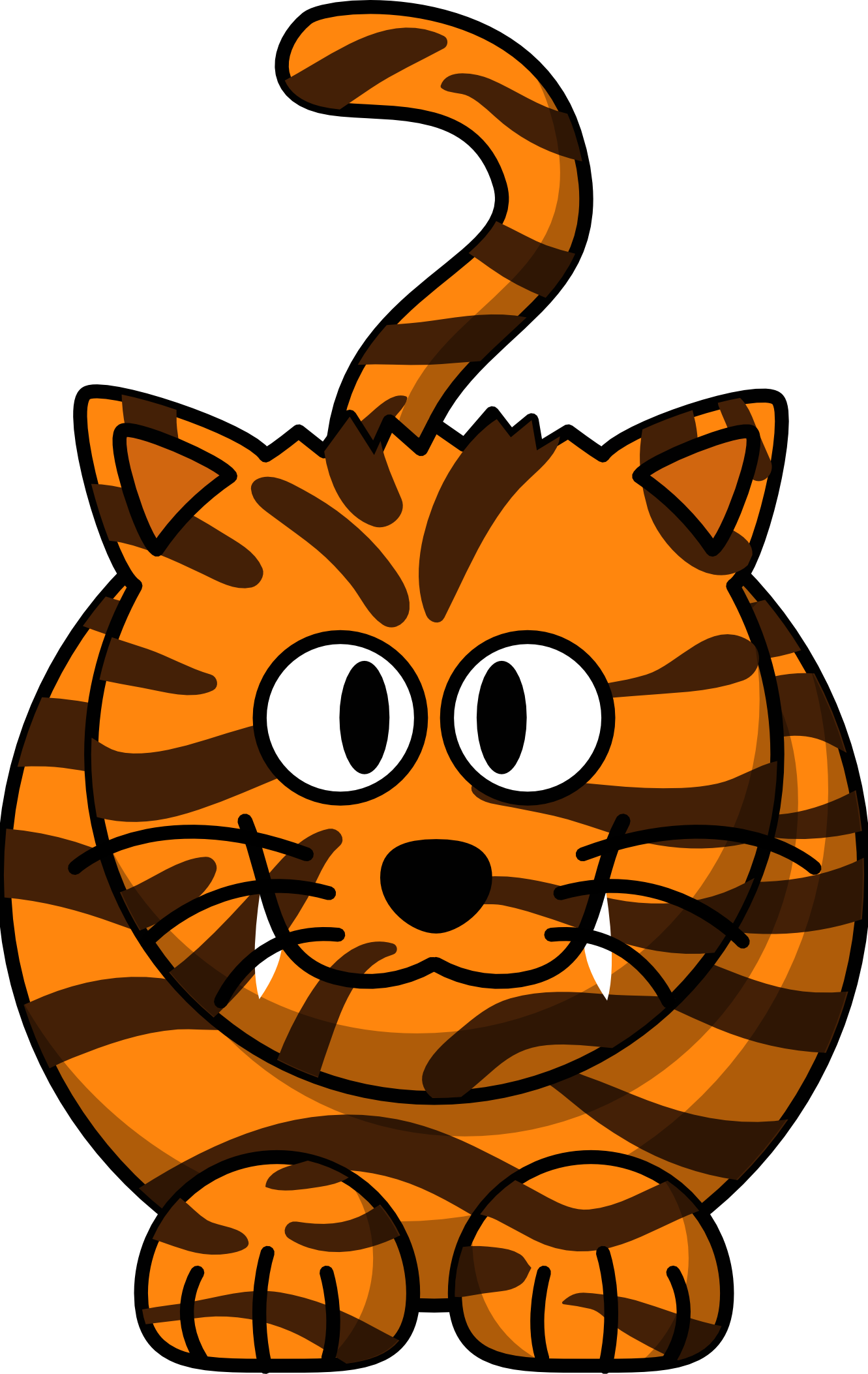 Tiger face clip art. Yearbook clipart animated