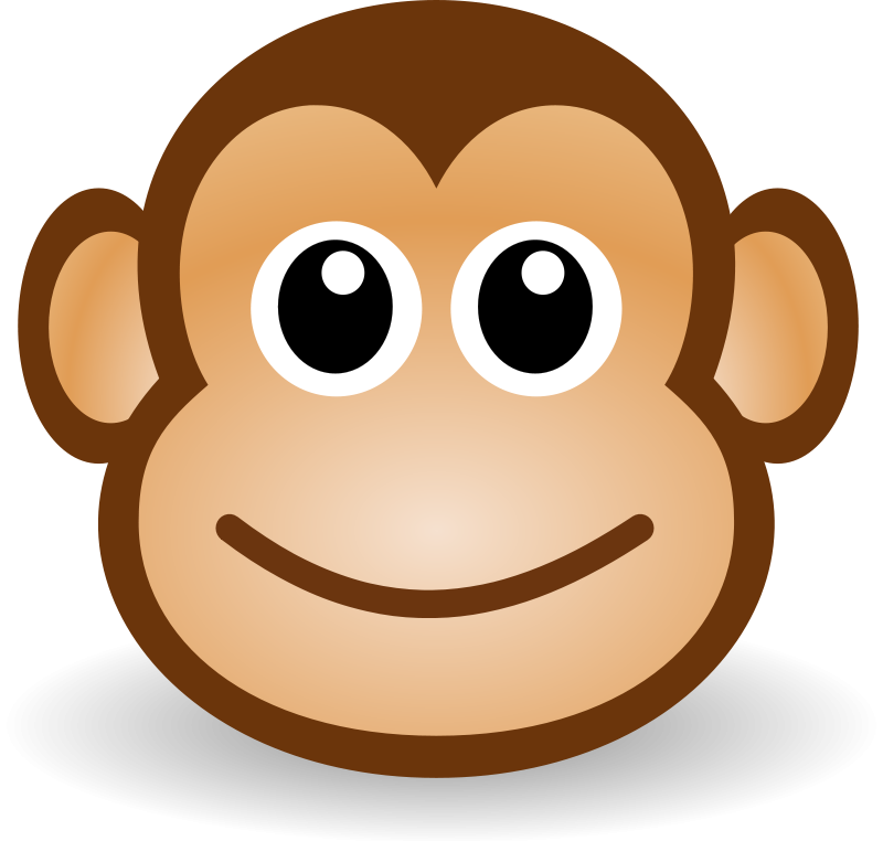 Paw clipart monkeys. Cartoon pictures of for