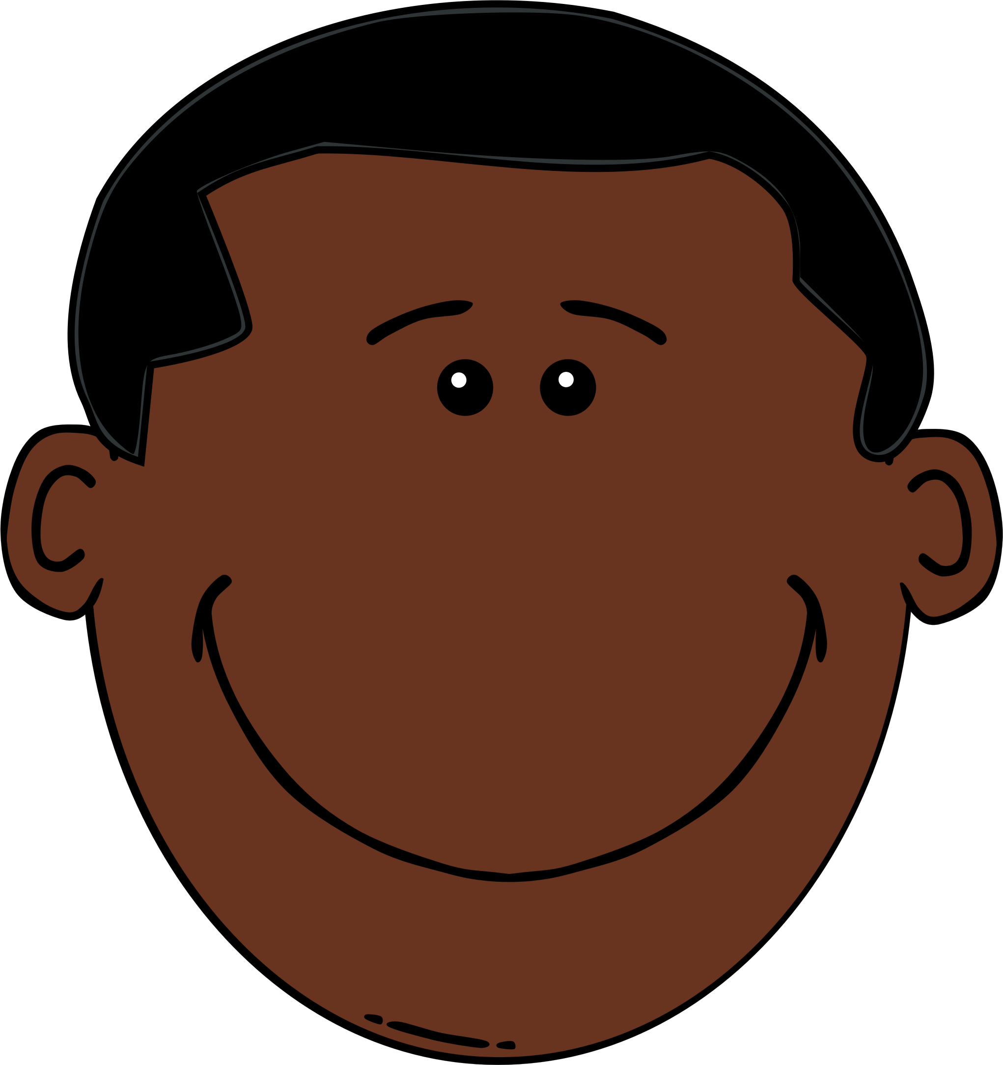 Photos boy face cartoon. Skin clipart brown skin