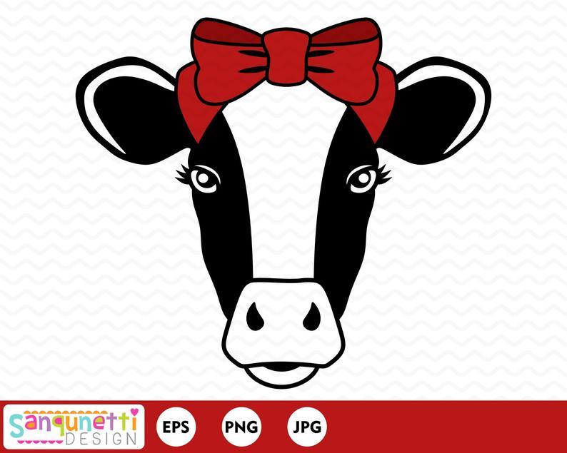 Farm digital art instant. Cow clipart face