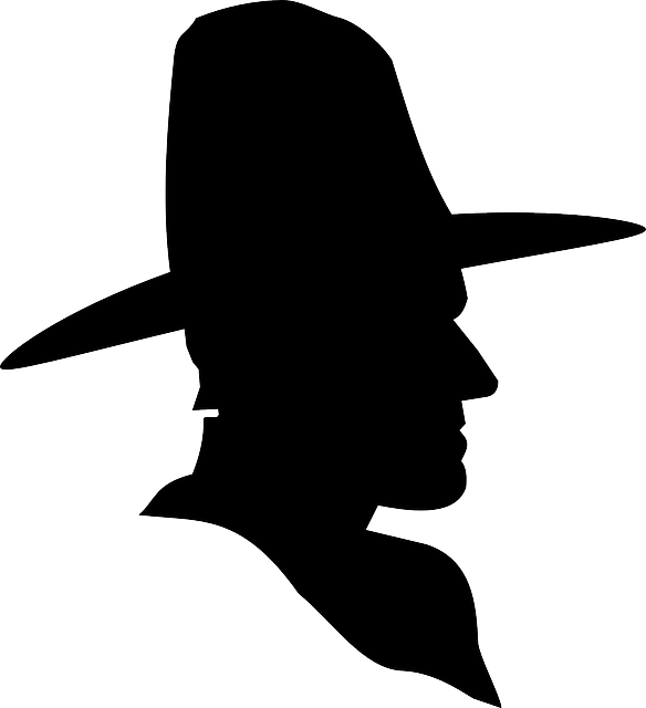Cowgirl clipart silhouette. Cowboy cross at getdrawings