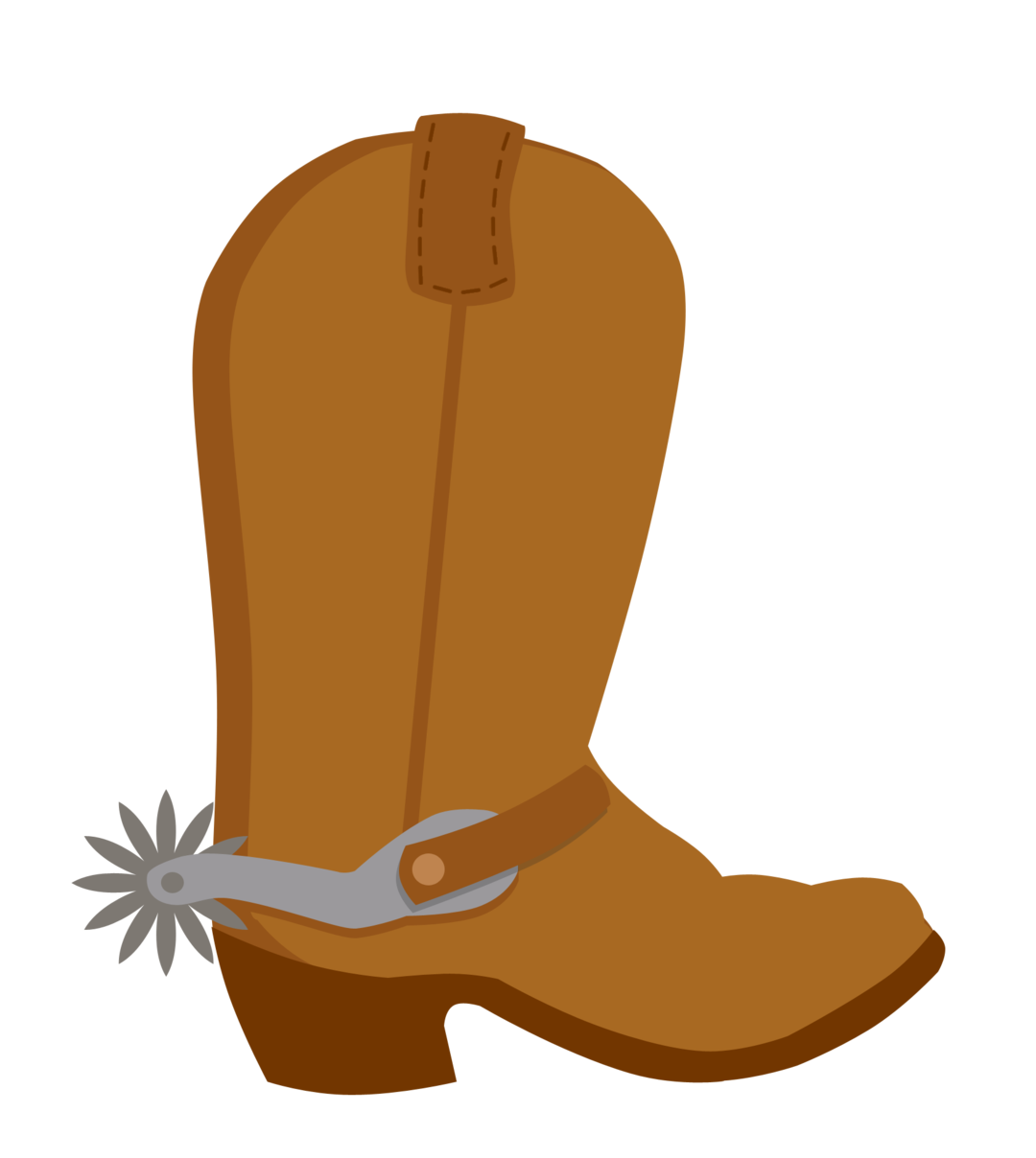 Bota boot country western. Clipart frame cowboy