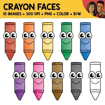 . Clipart face crayon