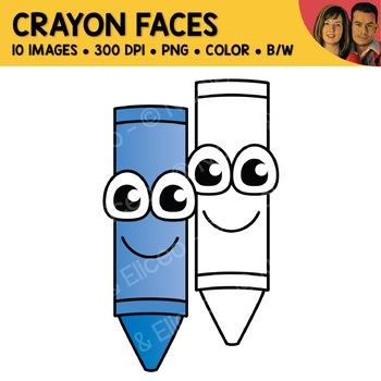 . Crayon clipart face