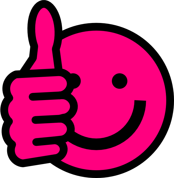 Pink thumbs up at. Hot clipart clip art