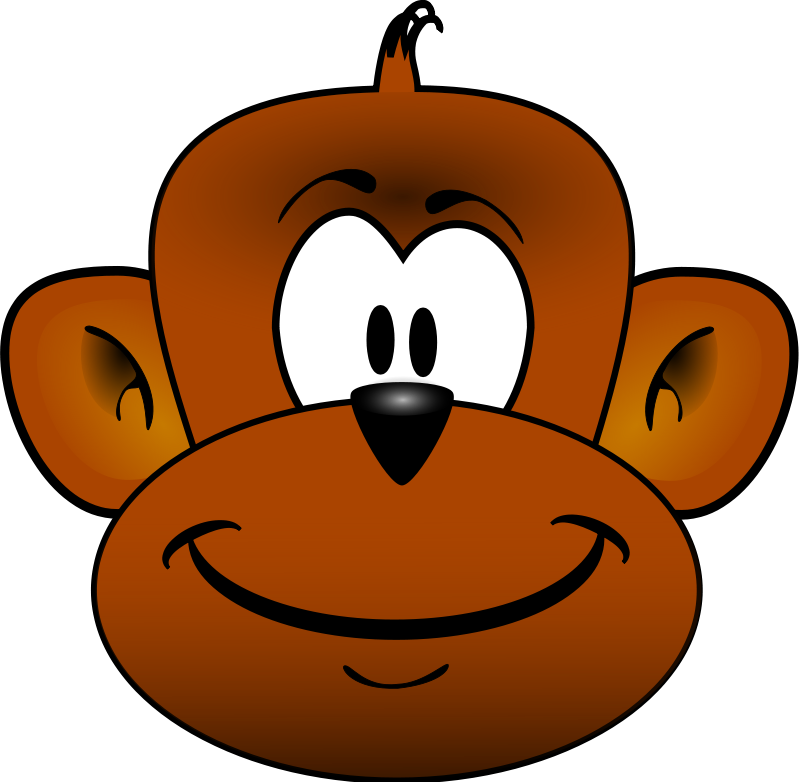 Clipart face cute. Baby monkey clip art