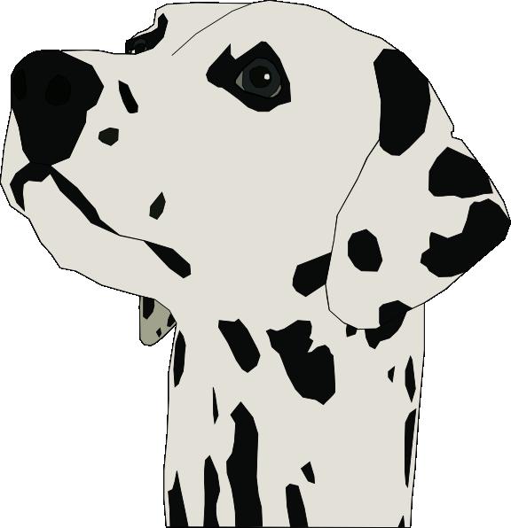 head clipart dalmatian