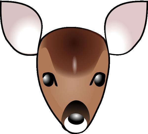 Head clip art at. Deer clipart nose